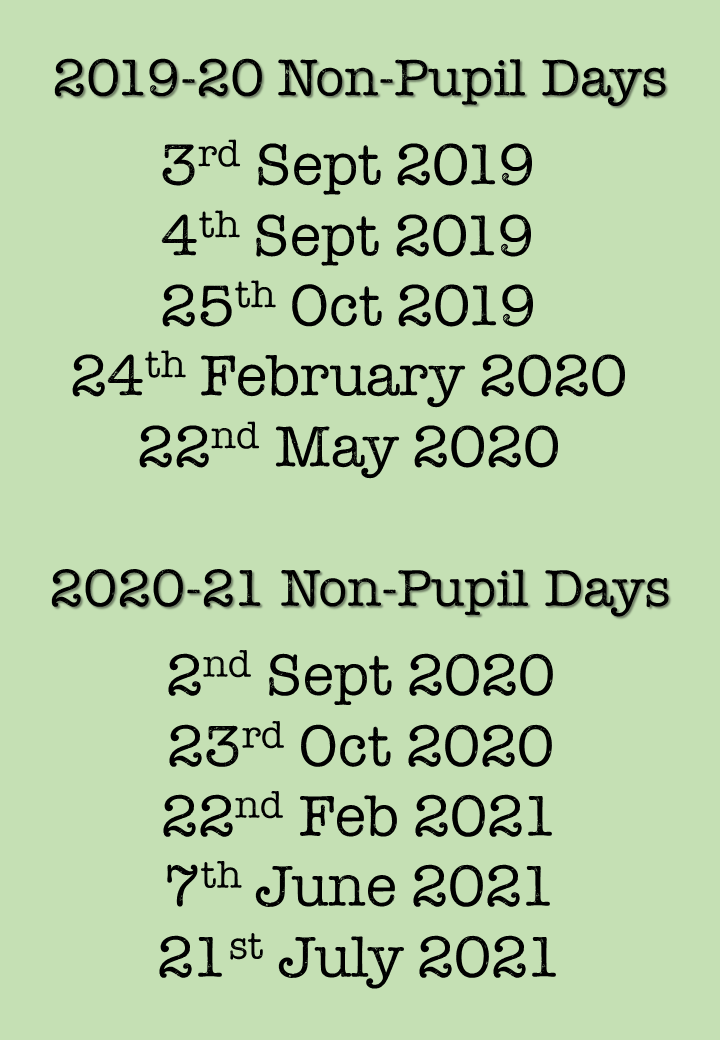 Non Pupil Days 20-21(2)
