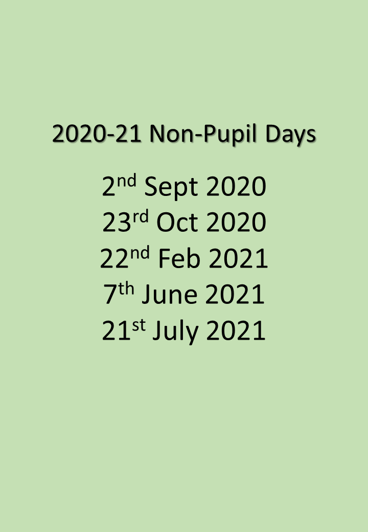 Non Pupil Days 20-21